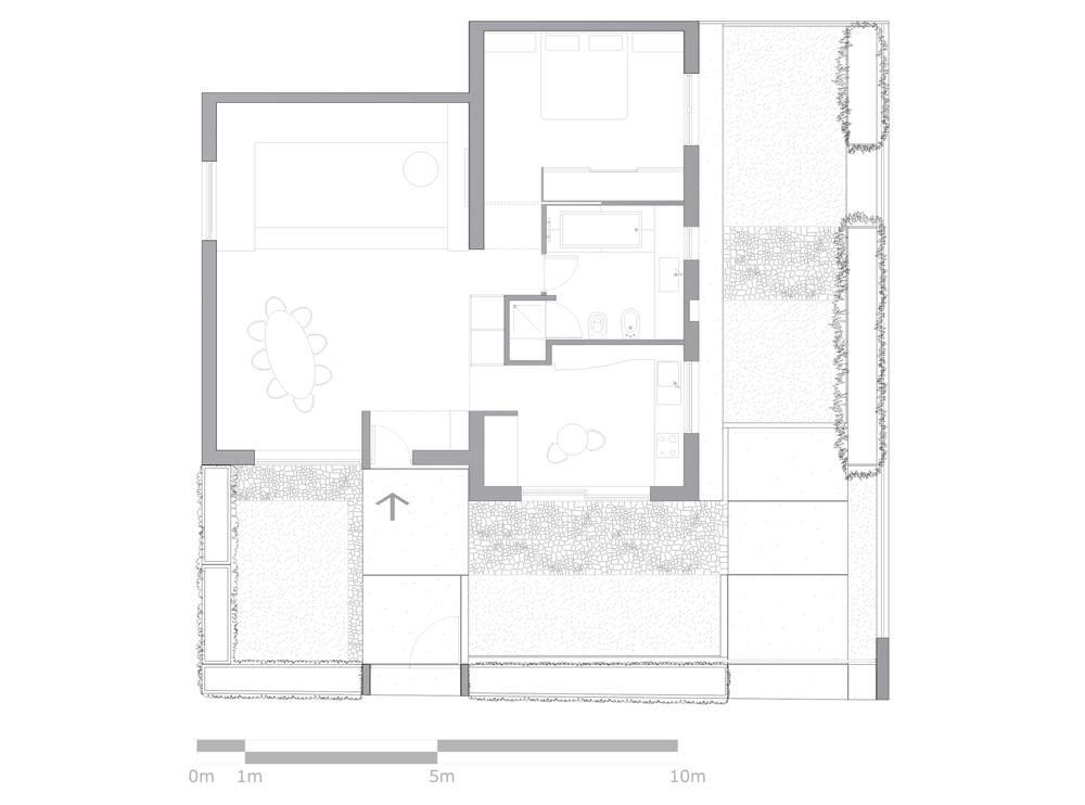 Andrea Gattei Architetto - Residential - Appartamento Magenta - pianta appartamento Rimini