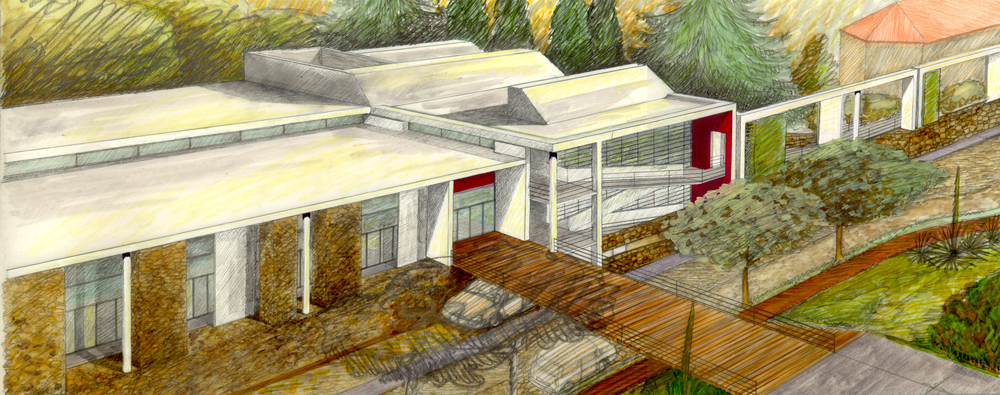 Andrea Gattei Architetto - Competition - disegni Concorso Toluca