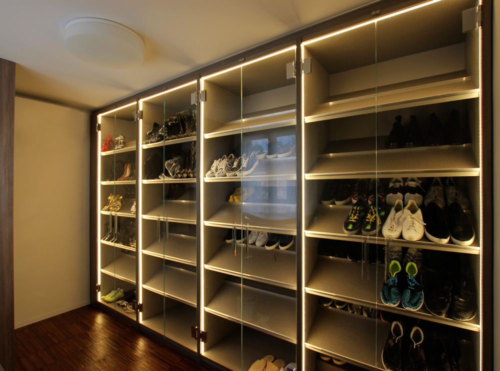 Andrea Gattei Architetto - Design & Research - Scarpiera - cabina armadio su disegno