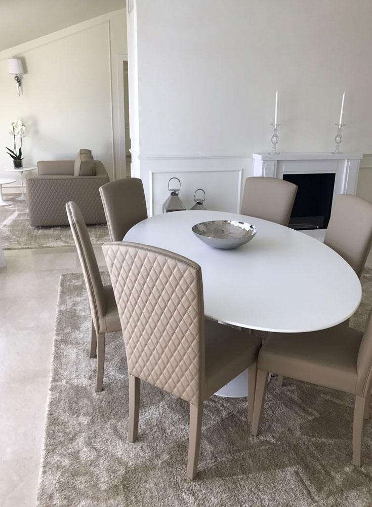 Andrea Gattei Architetto - Residential - Attico Bianco - soggiorno Riccione
