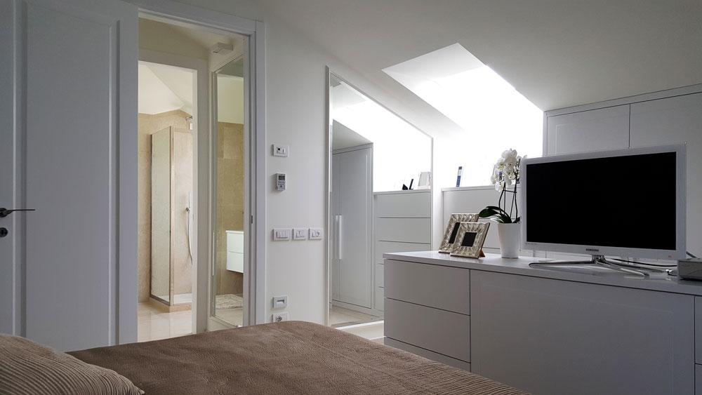 Andrea Gattei Architetto - Residential - Attico Bianco - camera matrimoniale Riccione