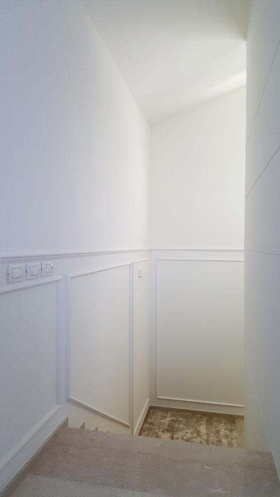 Andrea Gattei Architetto - Residential - Attico Bianco - interni ingresso Riccione