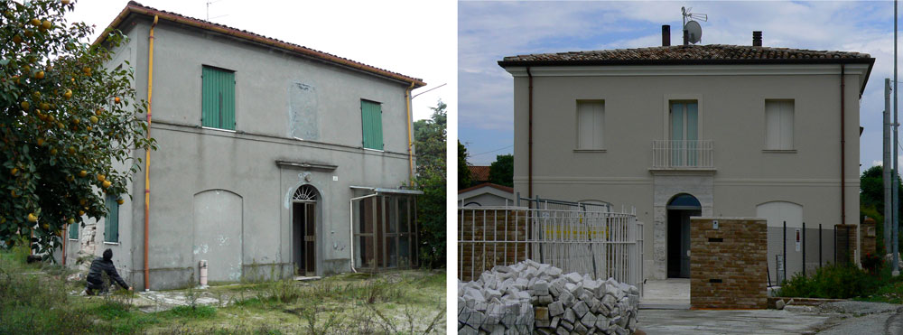 Andrea Gattei Architetto - Residential - Villa dell\'Ottocento - prima-dopo esterni villa